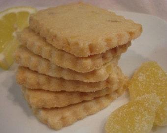 Lemon Ginger Shortbread Cookies