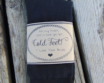 groom gift - In case you get cold feet socks (craft wrapper)