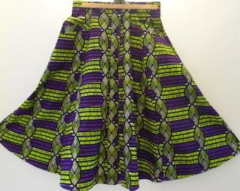 Skirt WAX Bell, high waist, choose colors, size 36 to 44