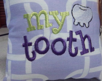 1025  Lavender and White Tooth Fairy Pillow