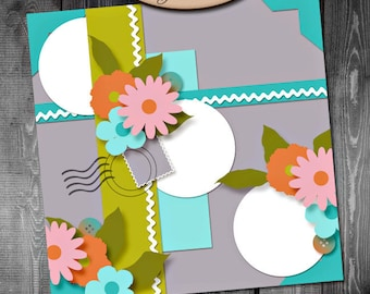 Digital Scrapbooking Template Single 2