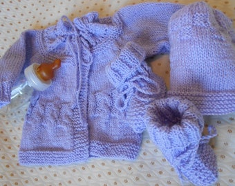 Bra with Hat and matching slippers lilac set
