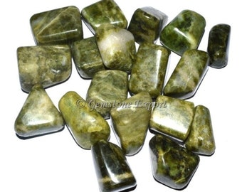 High quality tumbled Vesuvianite.  All pieces are hand picked!
