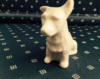 Belleek figurine of Scottish Terrier