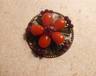 Large Red Bauble Magnet