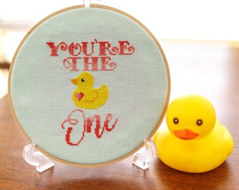 You're the One - Cross Stitch Pattern - Digital PDF Downloadable Pattern - Rubber Ducky
