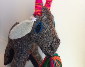 ON SALE! Three Billy Goats Gruff -  Perfect for Baby or Child or Animal Lover!  Handmade Wool Felt