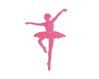 BALLERINA Iron On Design, Ballet Costume or Dress Up, Ballet Themed Birthday Party or Halloween, Ballet Bag Iron On Patch
