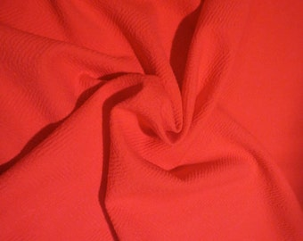 SPECIAL--Coral Herringbone Design Woven Polyester Fabric--By the Yard