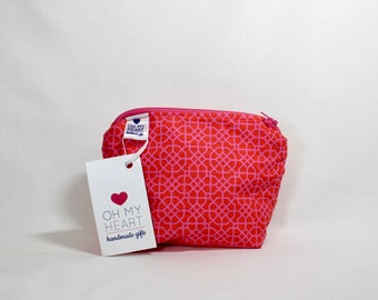 Small Zippered Cosmetic Bag