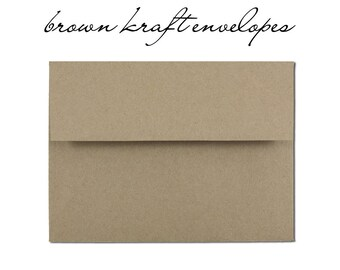 10 Brown Kraft Envelopes - Order Add On