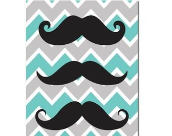 Mustache Poster Art , Wall Art , Mustache Decor , Hipster Wall Art , Printable Art , Hipster Gift , Wall Decor Gift , Art For Men