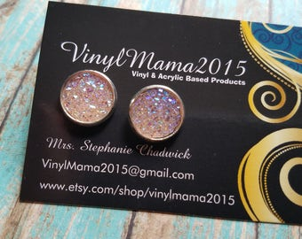Pink Lemonade Faux Druzy Earrings - Druzy Stud Earrings - Druzy Studs - Country Girl Earrings - Bridesmaid Gift - Gifts For Her