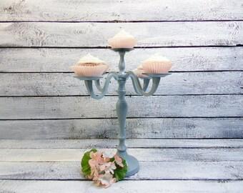 Cupcake Candelabra/Wedding Candelabra /5 arm Pillar Holder/ Candle Holder/Sweets Table