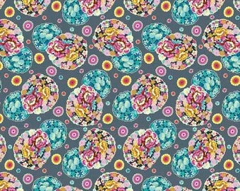 1/2 Yard Free Spirit Night Music Cloud Blossom in Heather AB007 designed by Amy Butler