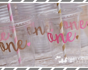 Winter Onederland Birthday Party, Set of 8 or 12 You Choose Party Cups or Favor Cups