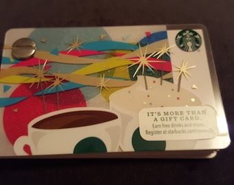 Starbucks Upcycled Refillable Giftcard Notebook - 2016 Happy Birthday