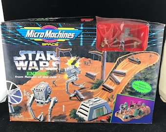 1994 Micro Machines Space Star Wars Endor from Return of the Jedi. Complete with 5 figures and one imperial At-St. NIB