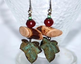 Earrings * walk in the Woods... *.
