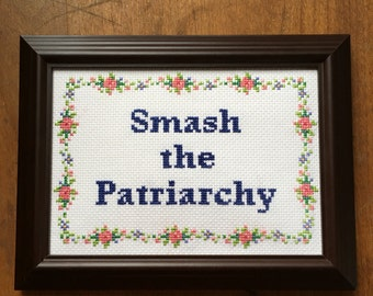 Smash the Patriarchy Cross-Stitch Pattern
