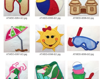 Summer-Applique. ( 9 Machine Embroidery Designs from ATW ).ev13