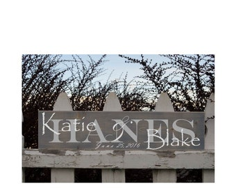"Wedding Name Signs - 5 1/2"" x 24"""