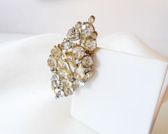 Rhinestone Brooch, Vintage Jewelry, Vintage Brooch, Rhinestone Pin, Costume Jewelry, Vintage  1950's,  Sparkly Brooch, Sparkly Pin