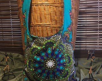 Circle of Blues Bohemian Bag