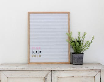 16x20 White Felt Board with 1 in black letter set - 342 Pieces!