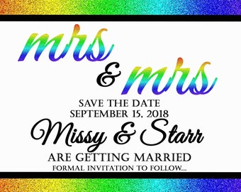 Digital Save the Date and Invitations with RSVP for starrshirley75