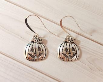 Jackolantern Earrings - Halloween Earrings - Pumpkin Earrings - Jack-o-lantern Earrings - Halloween Jewelry - Fall Earrings - Halloween