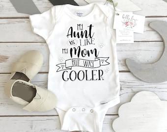 Aunt Onesie®, My Aunt is Way Cooler, Aunt Baby Gift, Funny Baby shirt, Auntie shirt, Nephew Gift, Niece Gift, Auntie Shirt, Baby Shower Gift