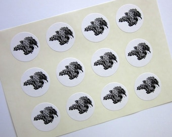 Grapes Stickers One Inch Round Seals