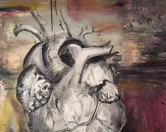 "Anatomical Heart 24""x30"""
