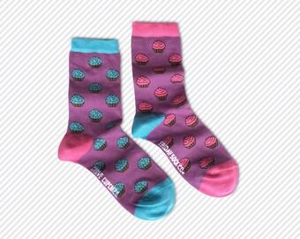 Womens Socks | Mismatched Socks | Funky Socks | Odd Socks | Cupcakes | Mismatched | Cool Socks