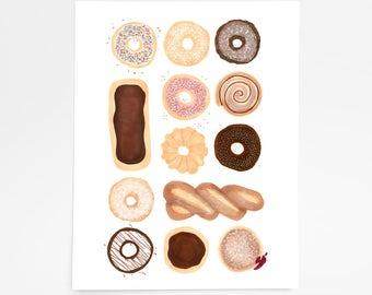 Donut Box - Art Print - 8 x 10