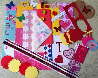 Diy Craft kit , scrapbook kit, Card Making & Stationary and More/ 45 pieces.