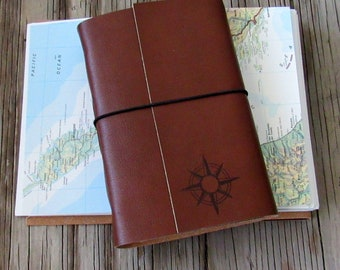 compass explorer, larger travel journal with maps by tremundo
