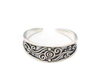 anello di punta tonda in argento