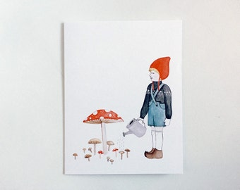 Mushroom Boy - Greeting Card