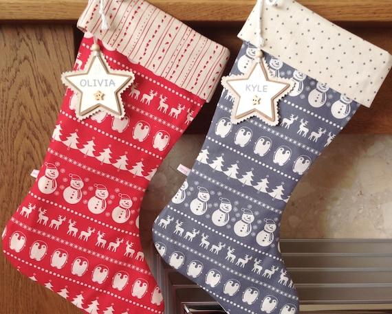 Christmas stocking scandinavian christmas stocking like this item solutioingenieria Gallery