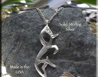 Celtic sterling silver horse pendant necklace jewelry celtic horse pendant white horse of uffington necklace 925 silver epona equestrian jewelry aloadofball Gallery