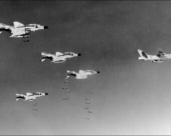 Poster, Many Sizes Available; F-4C Phantom Ii F-4 Rb-66B-Dl Destroyer Vietnam War 1966