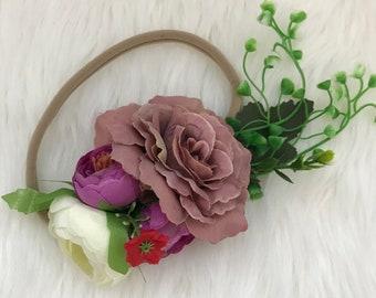 Newborn/infant floral headpiece