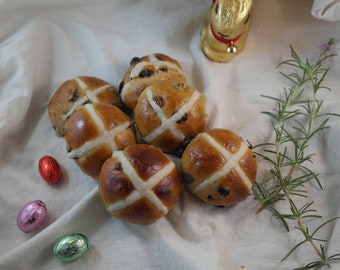 Handmade Hot Cross Buns- Made with 95% Organic Ingredients