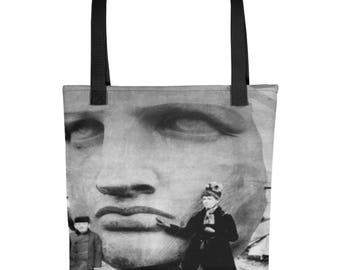Vintage Historic Photo Statue of Liberty Face Tote bag