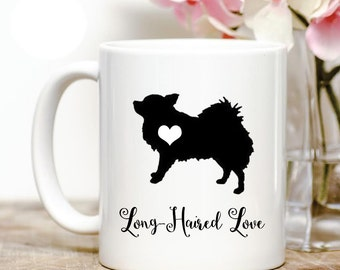 Long Haired Chihuahua love Coffee Mug