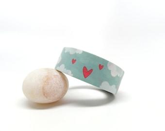 Valentine Washi Tape - Heart Washi Tape - Love Washi Tape - Cloud Washi Tape, 15mm x 10m