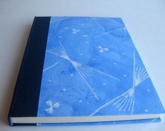 Scetchbook Artist Book Collage Handbound Journal Blue