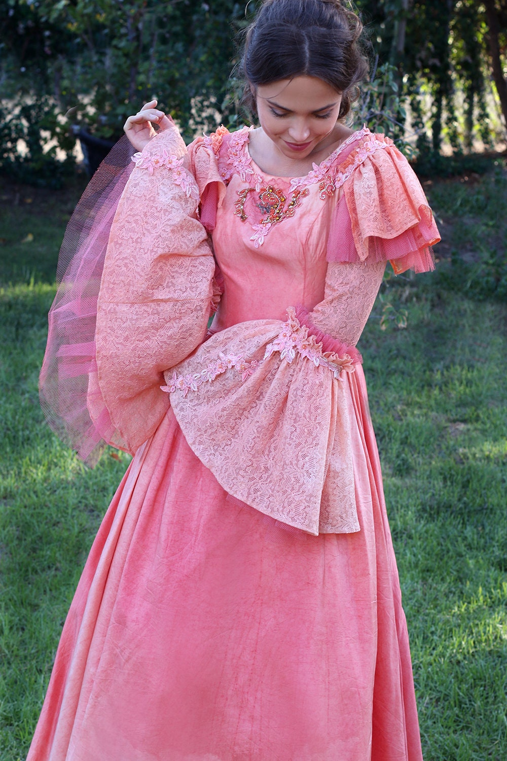 Fairy Tale Wedding Gown Custom Dress Hand Revived Upcycled